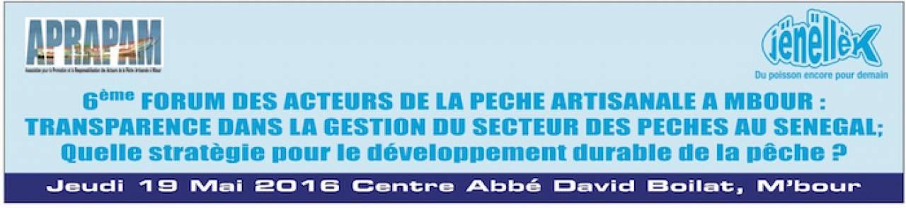 Discussion électronique exploratoire au 6ème Forum APRAPAM sur la transparence dans la gestion du secteur des pêches au Sénégal